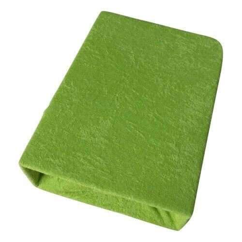 kétrétegű frottír gumis lepedő zöld színben