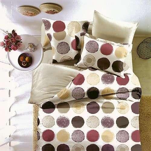 krém alapon színes körök pamut ágynemű