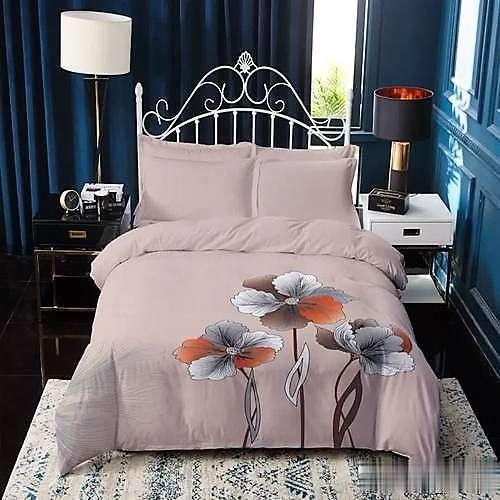 krém színben virágok pamut ágyneműhuzat
