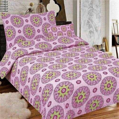 lila színben mandala mintás krepp ágyneműhuzat