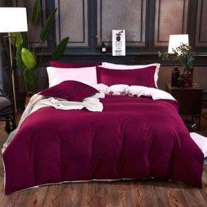 lilás bordó színes pamut ágyneműhuzat