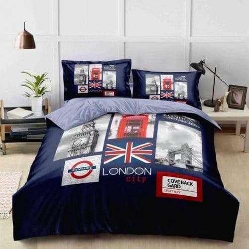 london város jellegzetességei pamut ágyneműhuzat