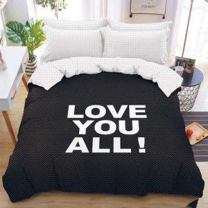 love you all feliratos fekete ágyneműhuzat