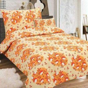 narancs virág mintás krepp ágyneműhuzat