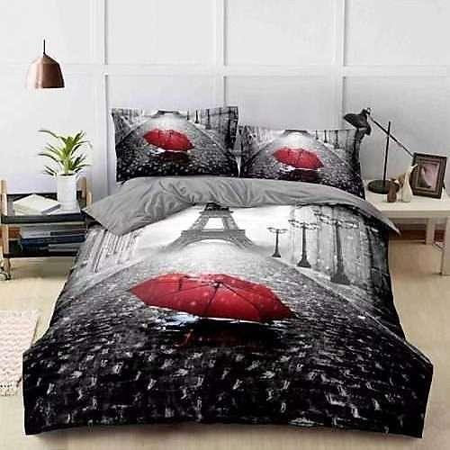párizs esős időben pamut ágyneműhuzat