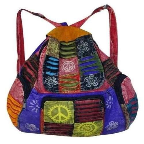 színes kockás béke jeles hátizsák