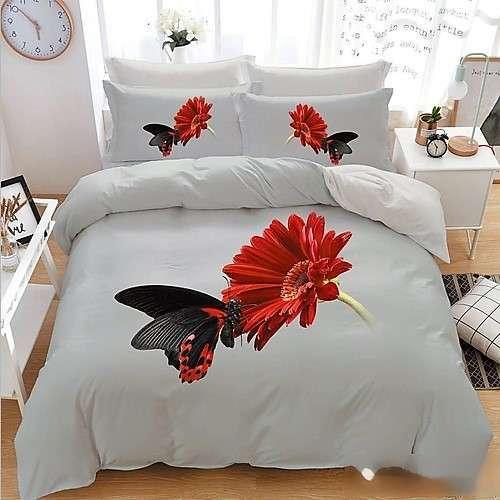 tört fehér színben pillangó mintás ágyneműhuzat