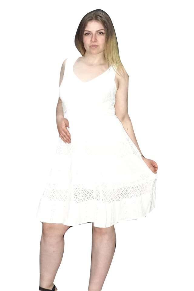 fehér pamut rövid nyári ruha indiából