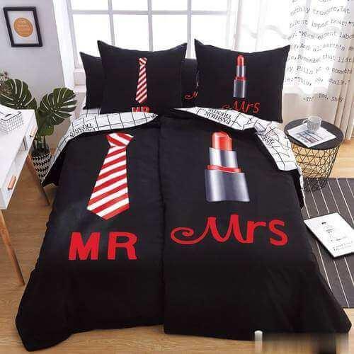 fekete színben nyakkendő rúzs pamut ágynemű