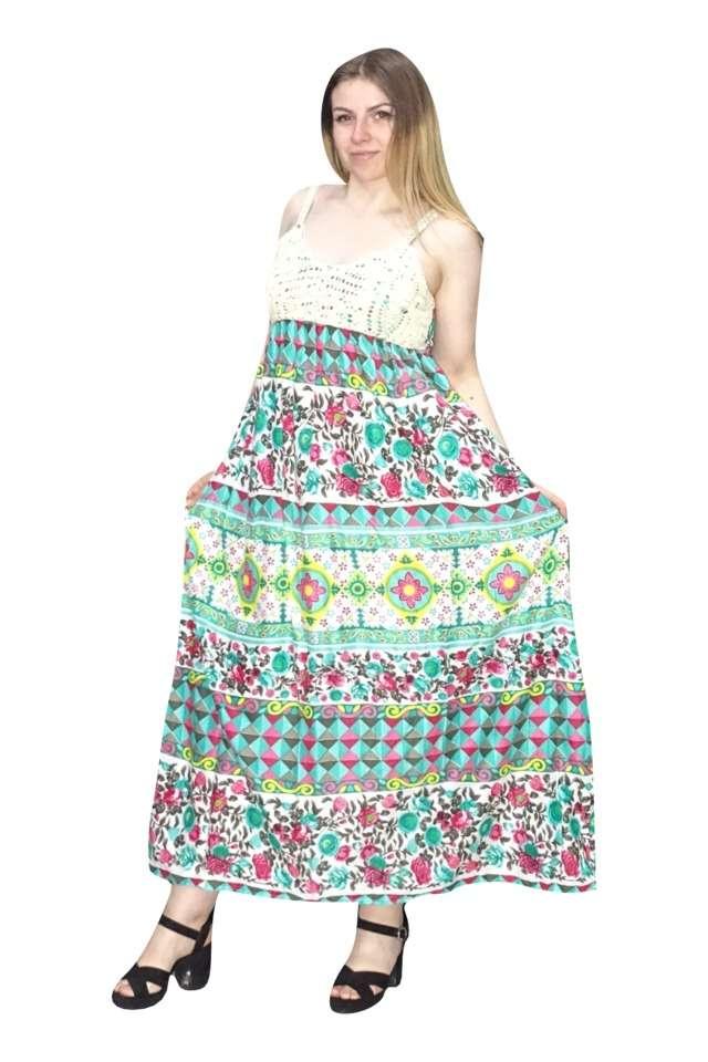 hosszú pántos ruha indiából univerzális méretben