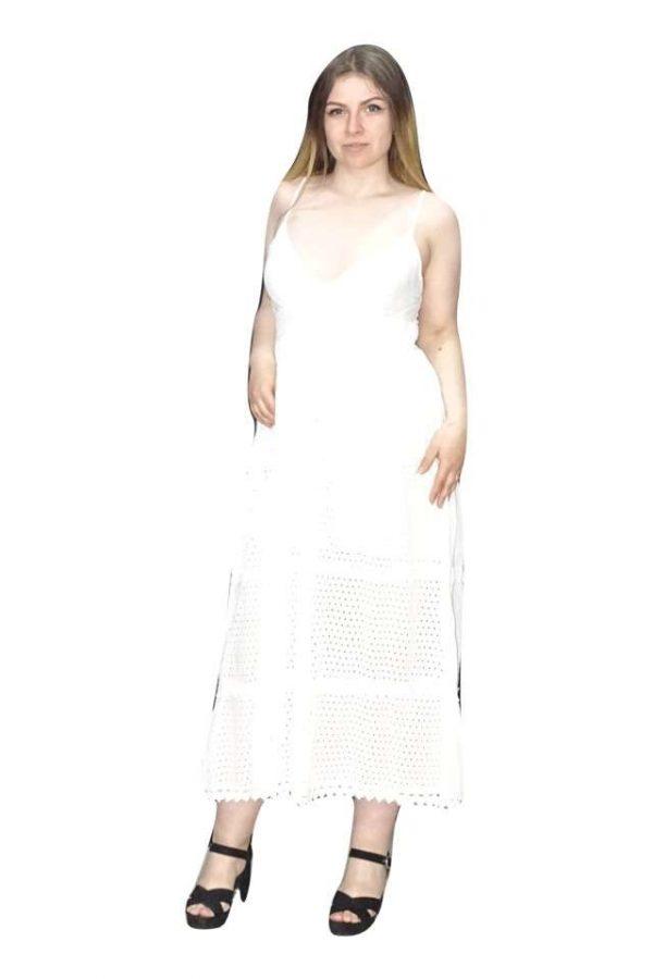 hosszú nyári ruha fehér