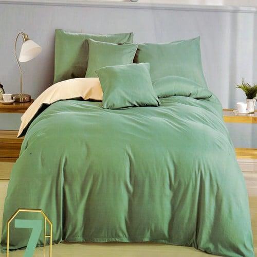krém és halvány zöld pamut ágynemű