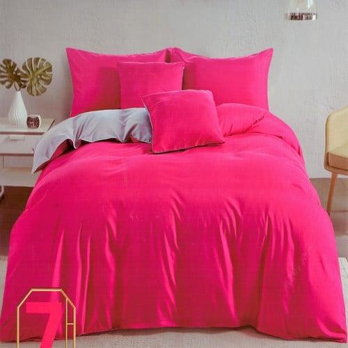 krém és pink színű pamut ágyneműhuzat