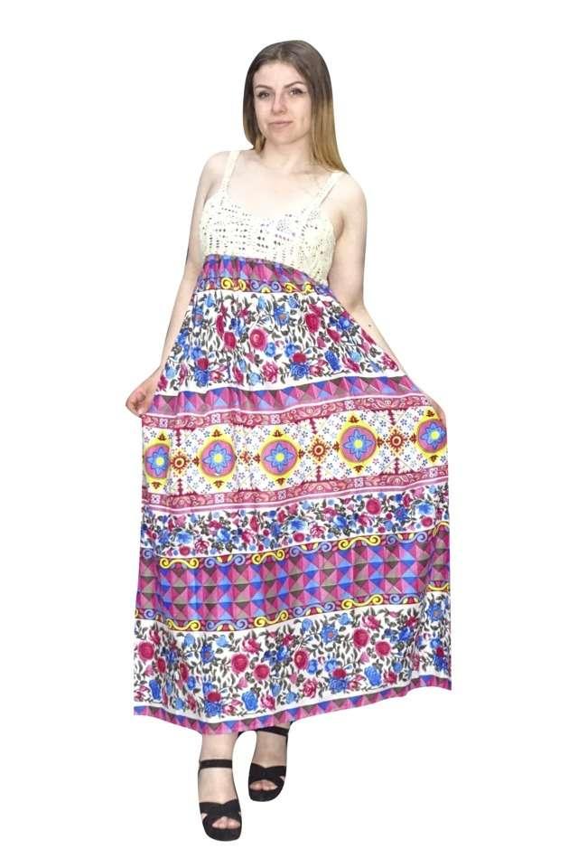 maxi ruha indiából egyedi színes mintával