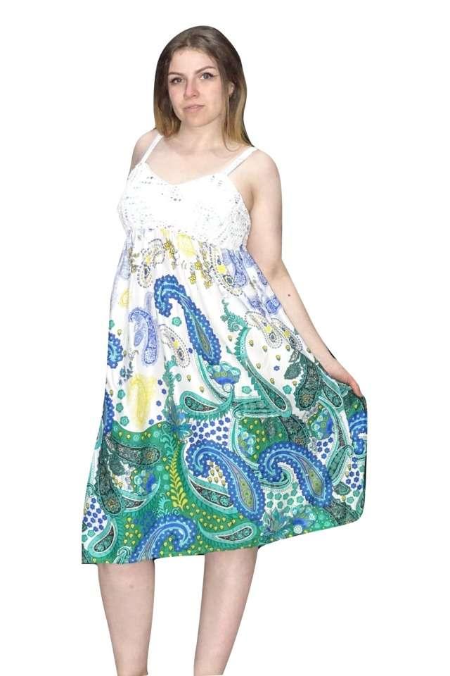 pántos rövid nyári ruha egyedi mintával