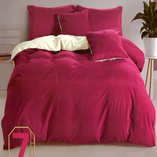 pamut ágynemű bordó és krém színben