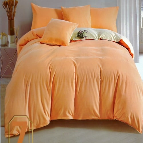 pamut ágyneműhuzat barack és krém színben