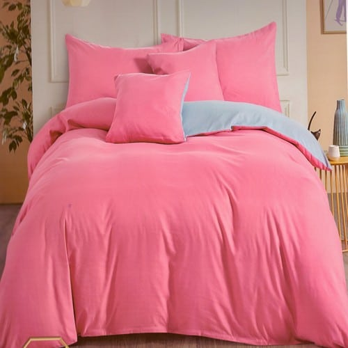 pamut ágyneműhuzat rózsaszín és kék színben