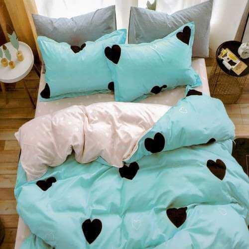 pamut 3 részes ágyneműhuzat szivecskékkel