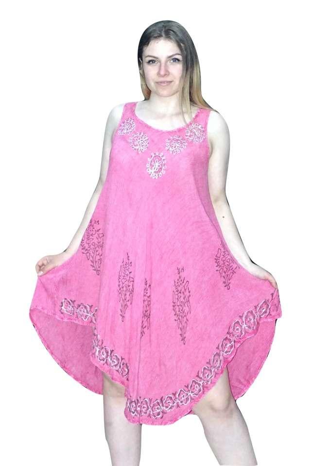 rózsaszín rövid nyári ruha univerzális méretben