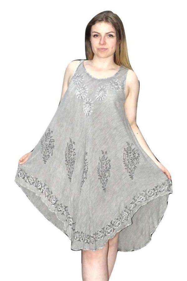 rövid nyári ruha szürke színben indiából