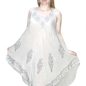 rövid nyári ruha világos színben indiából