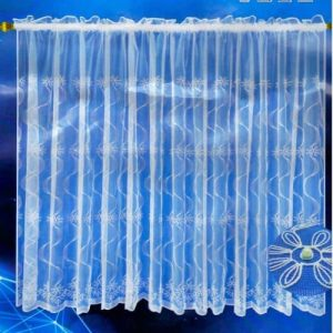 zsakard csipke függöny fehér színben mintával