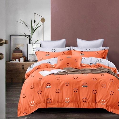 narancs fehér színben smile krepp ágynemű
