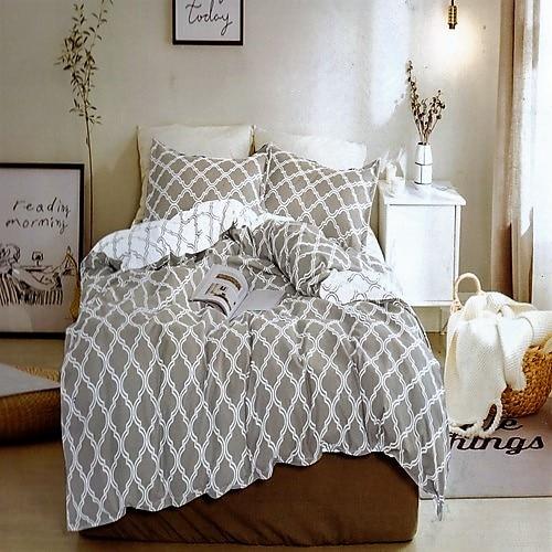 pamut ágynemű szürke és fehér mintával