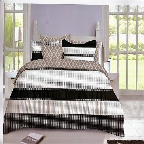 pamut ágyneműhuzat fekete barna fehér színben
