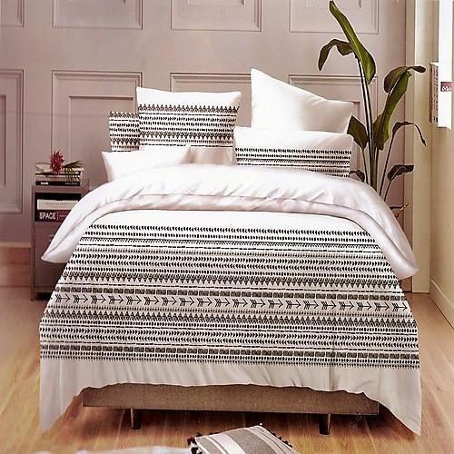 pamut ágyneműhuzat fekete fehér színes minta