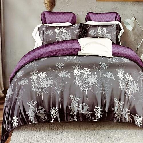 sötét kék bordó virágos pamut ágyneműhuzat