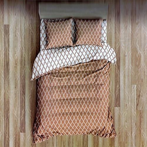 világos barna és fehér pamut ágyneműhuzat