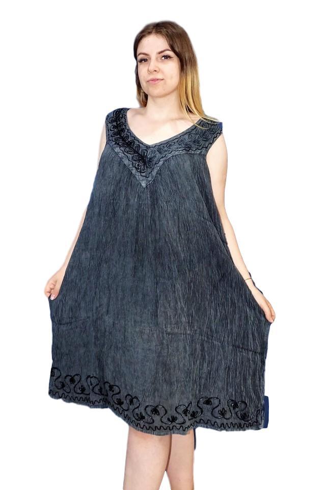 egyenes nyári rövid ruha extra méretben