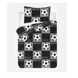 fekete fehér foci labda mintás ágynemű