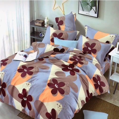 pamut hatású ágynemű színes alapon virágokkal