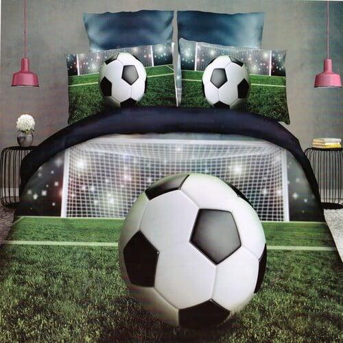 5D foci zöld földön pamuthatású ágyneműhuzat