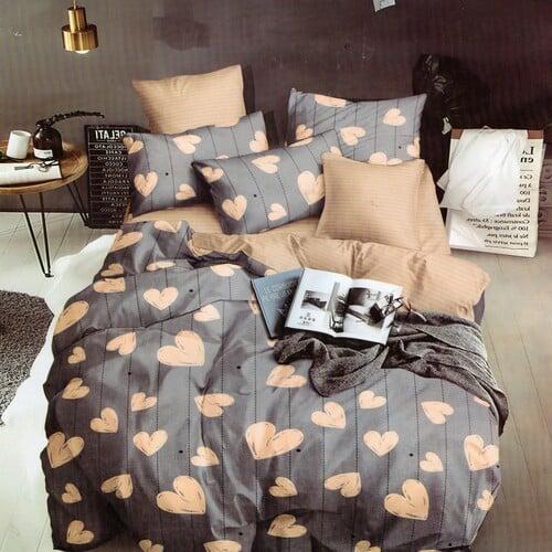 becs szíve szürke színű pamut ágynemű