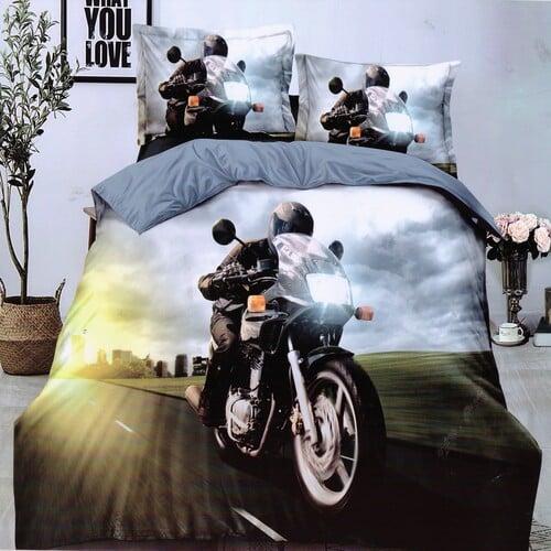 verseny motorkerékpár úton pamuthatású ágyneműhuzat
