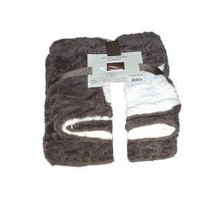 barna fehér puha takaró kis méretben minta
