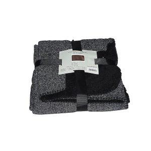 fekete szürke színben puha takaró pléd