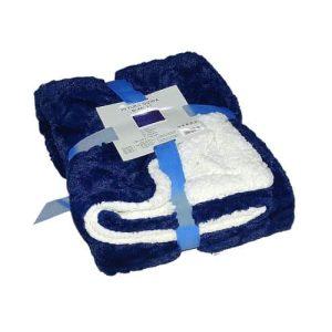 kék fehér puha takaró kis méret puha