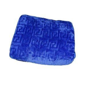 kék színben puha selymes takaró pléd