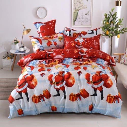 mikulás fehér piros színben pamut ágynemű
