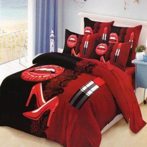pamut ágynemű pároknak rúzs és magassarkú