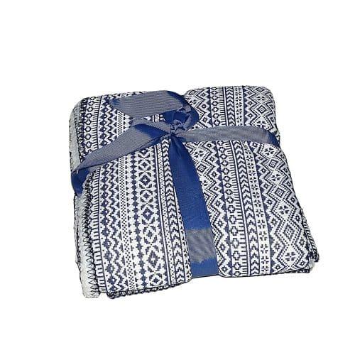 puha takaró hangulatos mintával kék fehér