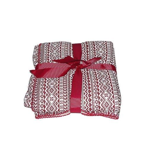 puha takaró hangulatos mintával piros fehér