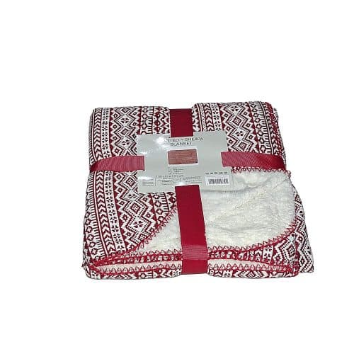puha takaró hangulatos mintával piros fehér minta