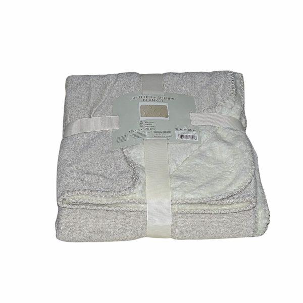 világos és szürke színben puha takaró