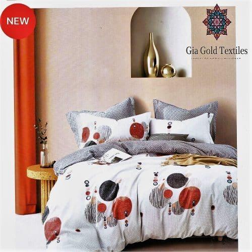 fehér szürke színes pöttyös pamut ágynemű